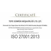 Firmamız ISO/IEC 27001:2013 BGYS Belgesi almaya hak kazanmıştır.